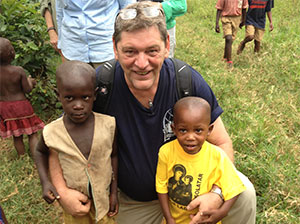 Lonnie With Kids In Africa September 2012