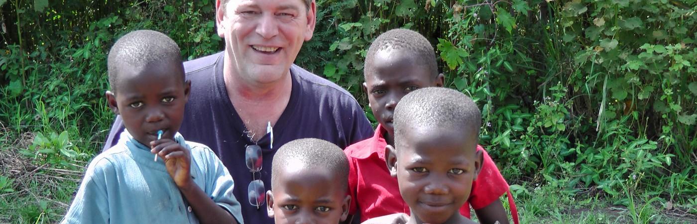 Children in a village near Uganda, Africa